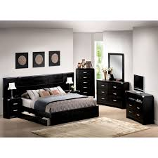 Modern Black Bedroom Black Furniture Bedroom Set Raya Furniture