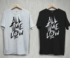 All Time Low T Shirt Design All Time Low Logo Pop Punk Rock Band Black White T Shirt Shirts Tee S 2xl Funny Unisex Casual Top On T Shirt Tourist Shirts From Dappachappy 12 96