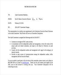 Memo To Board Of Directors 100 Audit Memo Examples Samples 50