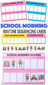 Routine Chart Ideas Kids Schedule Morning Routine For School Kids Schedule