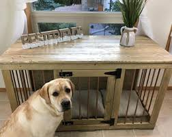 furniture style dog crate. Best Friends (#1 On Etsy) Rustic Style Single Dog Kennel/Custom Handmade Furniture Crate