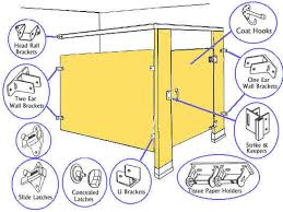 bathroom stall parts. Bathroom Stall Partitions Parts Partition Accessories I