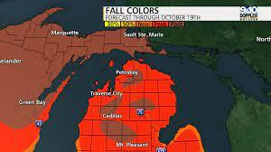 northern michigan fall color map