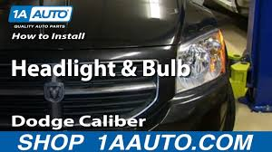 Dodge Caliber Side Light Bulb Replacement How To Replace Headlight 07 12 Dodge Caliber