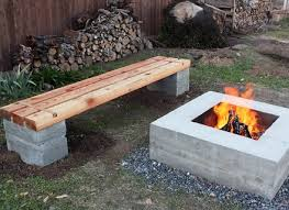gallery of cinder block bench for your home outdoors beauty