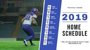 Sports Team Schedule Maker Football Schedule Digital Display Video