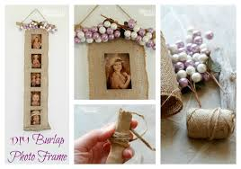 diy burlap photo frame beautiful decoration for any home plus a great homemade gift
