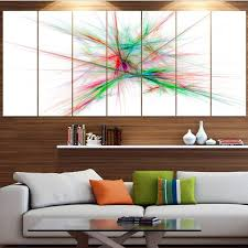 designart x27 blue red spectrum of light x27 abstract wall art on red and light blue wall art with designart blue red spectrum of light abstract wall art on canvas
