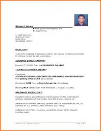 Resumes Formats Title Of Resume For Fresher Free Resume