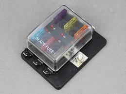 standard blade fuse box leds 6 way 12 volt planet
