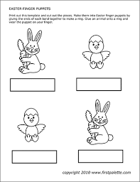 Bunny And Chick Puppets Free Printable Templates