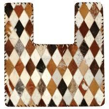 cowhide contour bathroom rug