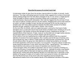 essay describe scene describe your village essay