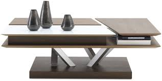 contemporary coffee table glass mdf rectangular