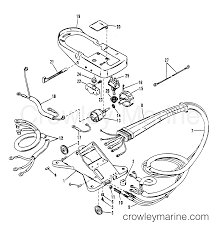 1989 mariner outboard r21 r 7001180pj wiring harness and foot plate
