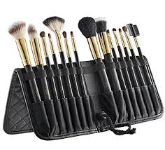 tootloo14 pc makeup brush set superior quality makeup brushes durable lightweight made of aluminum ferule leather