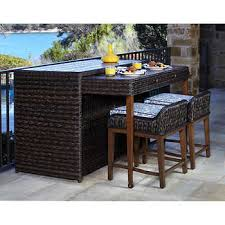 3 piece patio bar set. Delighful Set Trevisio 3piece Breakfast Bar Set And 3 Piece Patio P