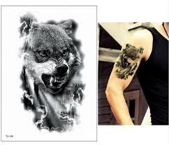 Us 082 36 Offnew Body Paint Arm Shoulder Temporary Tattoo Cute Jaguar Indian Dreamcatcher Wolf Cat Design Cool Tattoo Sticker Makeup Dropship In