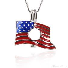 2019 925 sterling silver american flag usa flag star spangled banner stars and stripes cage pendants diy charms 18 19 9 4mm from aimjewelry