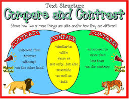 explain illuminate expose compare contrast writing organizational structures are block method or point by point method refer to the sample essays and handouts given to you