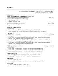 Resume Work History Format Career History Sample Resume Employment