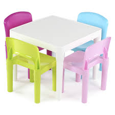 Table Set For Kids Tot Tutors Kids 5 Piece Square Table And Chair Set Reviews