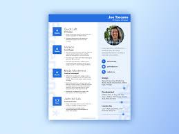 Material Design Resume Template Uplabs