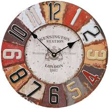 office wall clocks. Energy Battery Wall Clocks Vintage Large 12 Inch Round Wood Office Hanging O