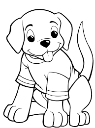 cute puppy flower coloring page for kids animal pages printables