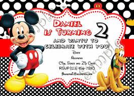 Mickey Mouse Birthday Invitation Free Thank You Card