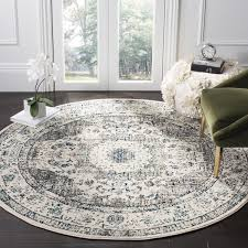 home and furniture ideas awesome vintage round rug at light blue 8 x new area