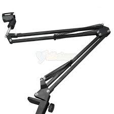 new adjule desktop microphone mic suspension boom scissor arm stand black