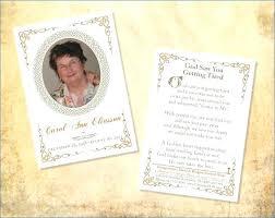 Free Funeral Program Template Download 2010 Margaretcurran Org
