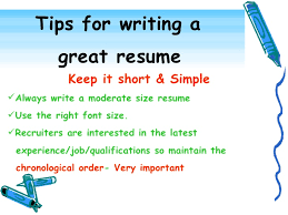9. Tips for writing a great resume ...