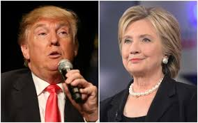 Image result for Hillary Clinton and Donald Trump,