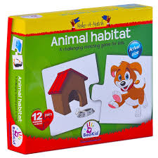 Make A Match Baby Puzzle Games - Animal Habitat. For 18+ Months Old ...
