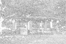 大人のぬり絵 公園の風景3 大人のぬりえ 無料素材
