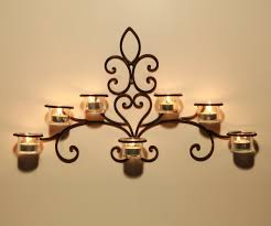 ... Large-size of Fashionable Adeco Iron And Glass Horizontal Wall Hanging  Candle Her Sconce Hd ...