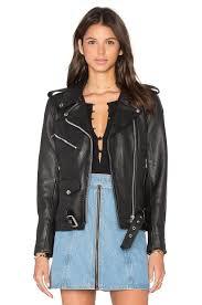 understated leather x revolve easy rider moto jacket black women jackets coats