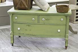 painted green furniture. Miss Mustard Seed Milk Paint | Perfectly Imperfect DIY Painted Furniture Green
