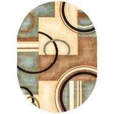oval area rugs arcs and shapes light blue 5 ft x 7 ft modern geometric oval oval area rugs