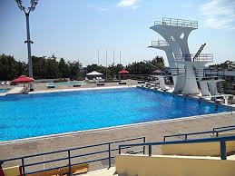 Exellent Public Swimming Pools With Diving Boards Board At A Pool Stock In Impressive Design