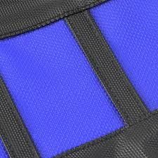 motoseat new mx yamaha yz 125 250 2002 2018 gripper ribbed blue black seat cover