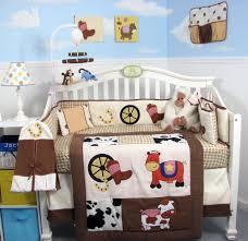 soho cowboy blues baby crib nursery bedding set 14 pieces