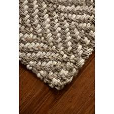Conestoga Country Kitchens The Conestoga Trading Co Hines Hand Woven Brown White Area Rug