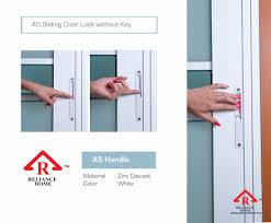reliance home sliding door lockset 2