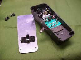 crybaby wah pedal with back cover removed