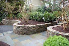 lovely stacked stone retaining wall stair railings modern for stacked stone retaining wall decorating