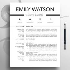 Modern Resume Cv Template 1 3 Page Simple Resume Mac Professional Resume Word Download Modern Resume Template Pages Resume Design Emil