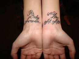 Short Tattoo Quotes Custom Friend Tattoos Great Quotes For Cool Tattoo Design Awesome Short